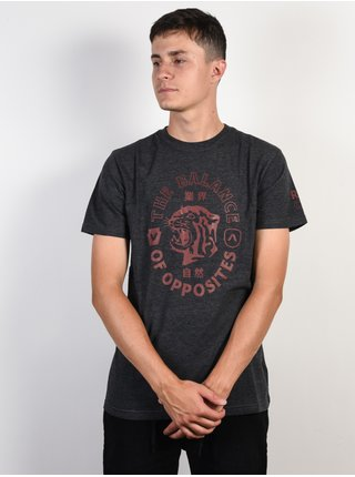 RVCA SIAM CHARCOAL HEATHER pánské triko s krátkým rukávem - šedá