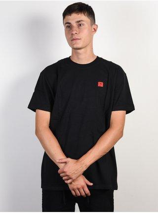 RVCA WICKS black pánské triko s krátkým rukávem - černá