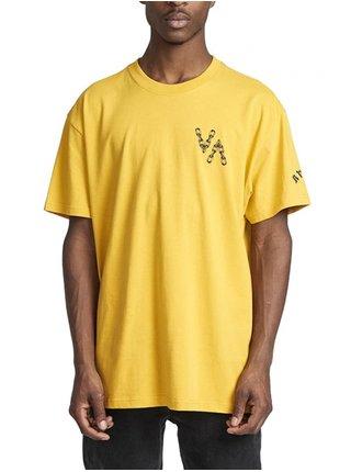 RVCA VA EAGLE DIJON pánské triko s krátkým rukávem - žlutá