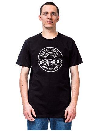 Horsefeathers VALE black pánské triko s krátkým rukávem - černá