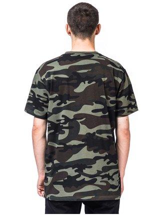 Horsefeathers STOCK WOODLAND pánské triko s krátkým rukávem - zelená