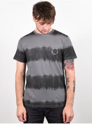 Rip Curl ACIDOULOUS black pánské triko s krátkým rukávem - černá