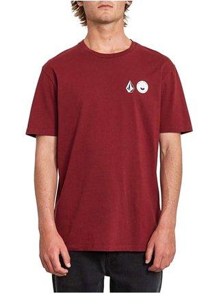 Volcom Mcbl x vlcm CABERNET pánské triko s krátkým rukávem - vínová