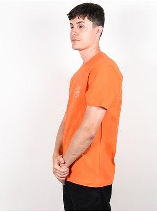 RVCA REYNOLDS Bright Orange pánské triko s krátkým rukávem - oranžová