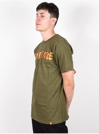 Spitfire PYRE M.GRN/CONTONE pánské triko s krátkým rukávem - zelená