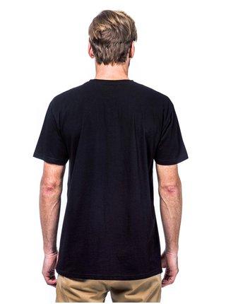 Horsefeathers LEX black pánské triko s krátkým rukávem - černá