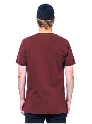 Horsefeathers BECK RAISIN pánské triko s krátkým rukávem - červená