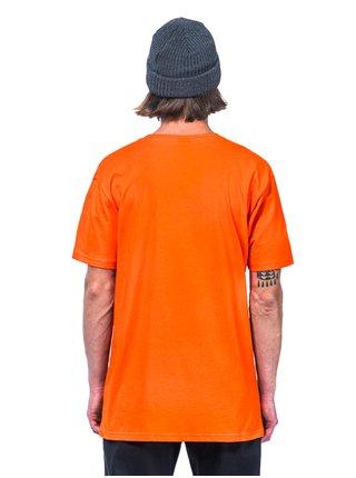 Horsefeathers POW POW flame pánské triko s krátkým rukávem - oranžová