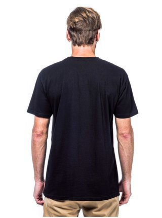 Horsefeathers POW POW black pánské triko s krátkým rukávem - černá