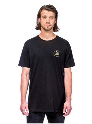 Horsefeathers DALE black pánské triko s krátkým rukávem - černá