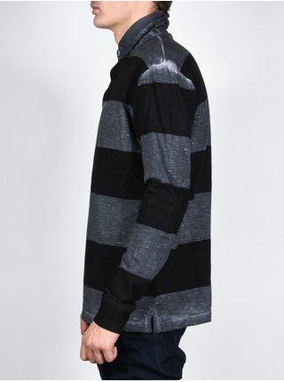 Element LARSON STONE GREY pánské triko s dlouhým rukávem - černá