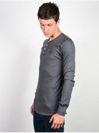 Ride Henley CHARCOAL pánské triko s dlouhým rukávem - šedá