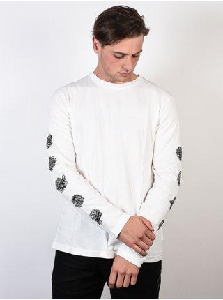 RVCA ROSE white pánské triko s dlouhým rukávem - bílá