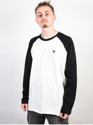 Element BLUNT black pánské triko s dlouhým rukávem - bílá