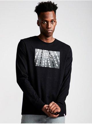 Element NASSIM FLINT BLACK pánské triko s dlouhým rukávem - černá