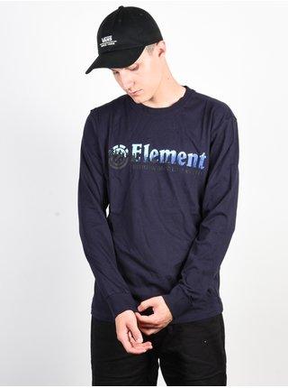 Element GLIMPSE HORIZONTAL ECLIPSE NAVY pánské triko s dlouhým rukávem - modrá