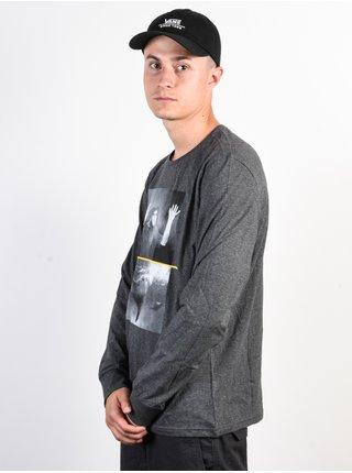 Element SHARK FLETCHER CHARCOAL HEATHE pánské triko s dlouhým rukávem - šedá
