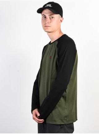 Element BLUNT OLIVE DRAB pánské triko s dlouhým rukávem - černá