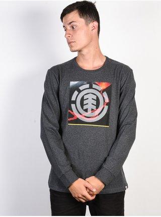Element SURGE ICON CHARCOAL HEATHE pánské triko s dlouhým rukávem - šedá
