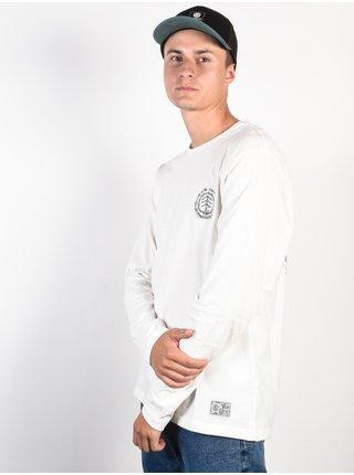 Element TOO LATE LOGO off white pánské triko s dlouhým rukávem - bílá