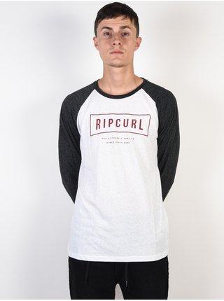Rip Curl STRETCHED OUT black pánské triko s dlouhým rukávem - černá