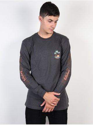 Billabong SAILIN ASPHALT pánské triko s dlouhým rukávem - šedá