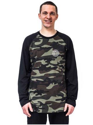 Horsefeathers VALE WOODLAND pánské triko s dlouhým rukávem - černá