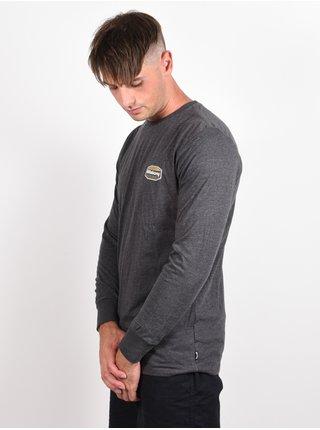 Billabong GOLD COAST black pánské triko s dlouhým rukávem - šedá