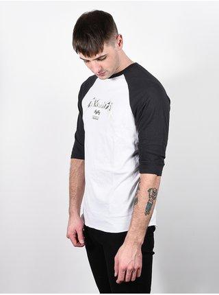 Billabong MASTER OF PUPPETS Vintage Black pánské triko s dlouhým rukávem - bílá