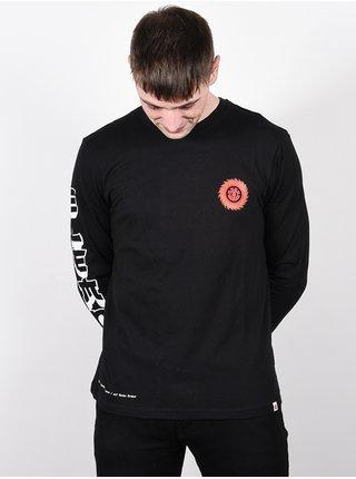 Element FLORIAN FLINT BLACK pánské triko s dlouhým rukávem - černá