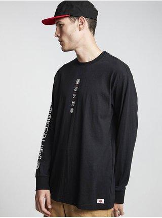 Element TAKASHI FLINT BLACK pánské triko s dlouhým rukávem - černá