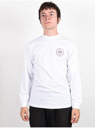 Vans CHECKER 66 white pánské triko s dlouhým rukávem - bílá