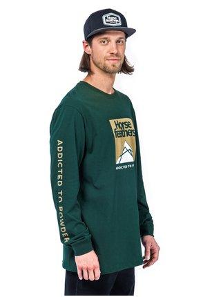 Horsefeathers LEX JUNGLE GREEN pánské triko s dlouhým rukávem - zelená
