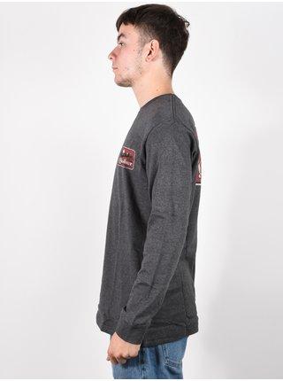 Quiksilver OLD HABIT CHARCOAL HEATHER pánské triko s dlouhým rukávem - šedá