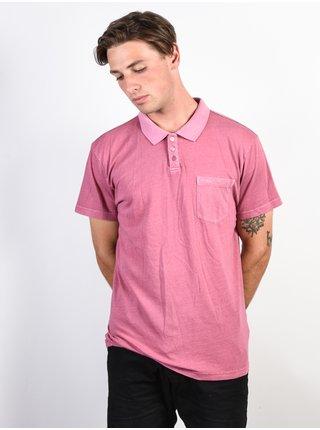 RVCA PTC PIGMENT POLO ROSE pánské polo triko - růžová