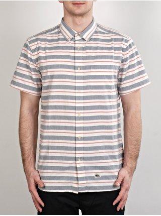 Quiksilver HAANO BRQ0 košile pro muže krátký rukáv - šedá