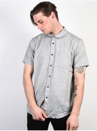 Billabong ALL DAY HELIX LIGHT GREY košile pro muže krátký rukáv - šedá