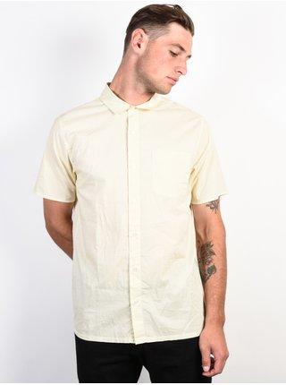 RVCA E DOT ANTIQUE WHITE košile pro muže krátký rukáv - béžová