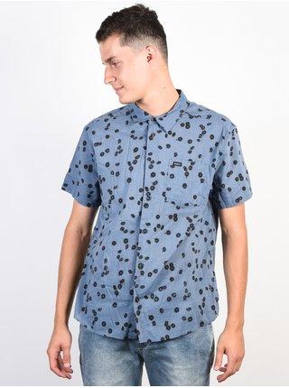 RVCA OD FLORAL blue slate košile pro muže krátký rukáv - modrá