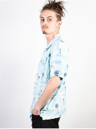 Billabong VACAY PRINT MINT košile pro muže krátký rukáv - modrá