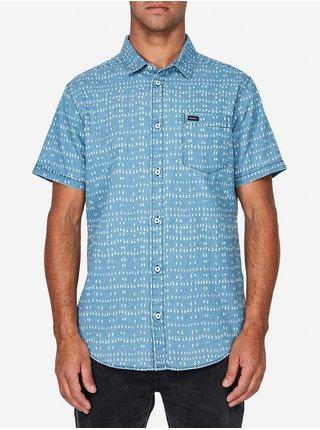 RVCA NAKAMA DOT DENIM košile pro muže krátký rukáv - modrá