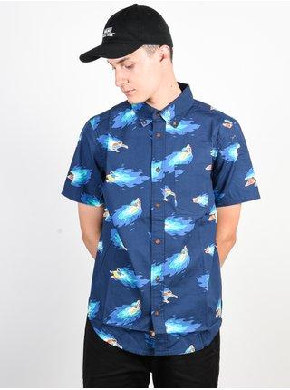 Element HOFFMAN NEON BLUE košile pro muže krátký rukáv - modrá