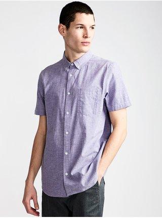 Element GREENE NEPS GENTIAN VIOLET košile pro muže krátký rukáv - fialová