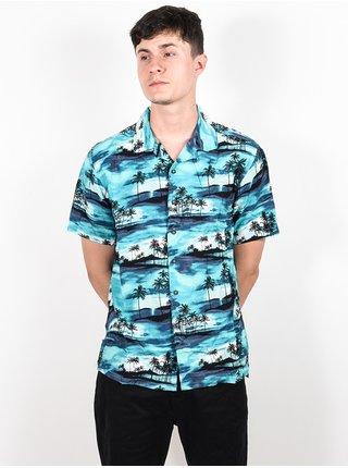 Billabong VACAY AQUA košile pro muže krátký rukáv - modrá
