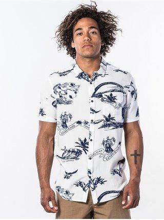Rip Curl OAHU off white košile pro muže krátký rukáv - bílá
