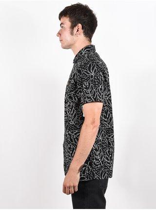 Rip Curl SWC MOTIF LINEN black košile pro muže krátký rukáv - černá