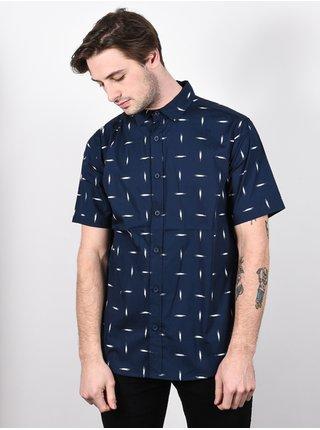 Burton SHABOOYA CAMP DRESSBLUE BASKETIKAT košile pro muže krátký rukáv - modrá