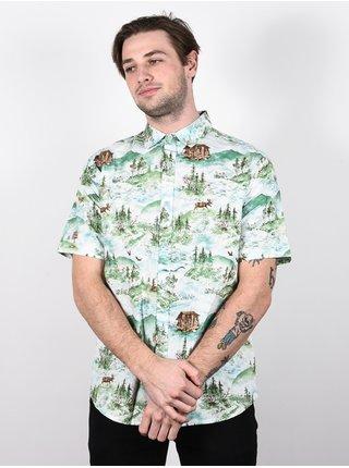 Burton SHABOOYA CAMP STERLING POND košile pro muže krátký rukáv - modrá
