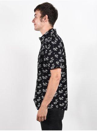 RVCA EASY PALMS black košile pro muže krátký rukáv - černá