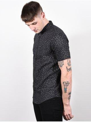 RVCA THATLL DO PRINT black/white košile pro muže krátký rukáv - černá